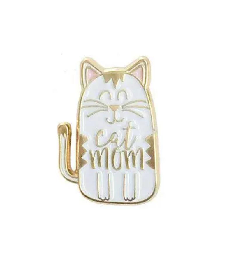 Little Lovelies Studio Cat Mom Enamel Pin