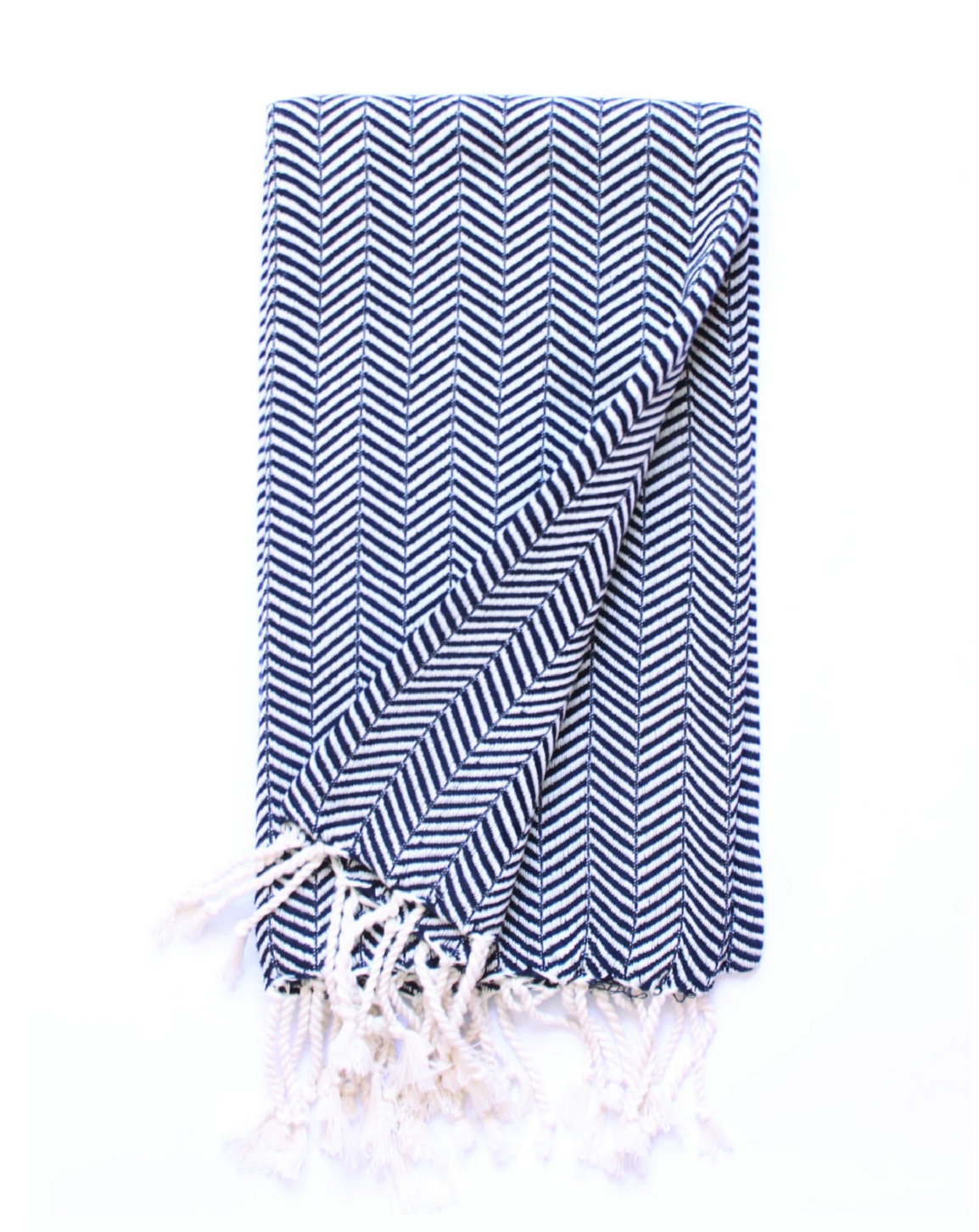 Beach House Towels Osaka Turkish Towel-Black ZigZag