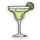 Brittany Paige Margarita Glass Sticker