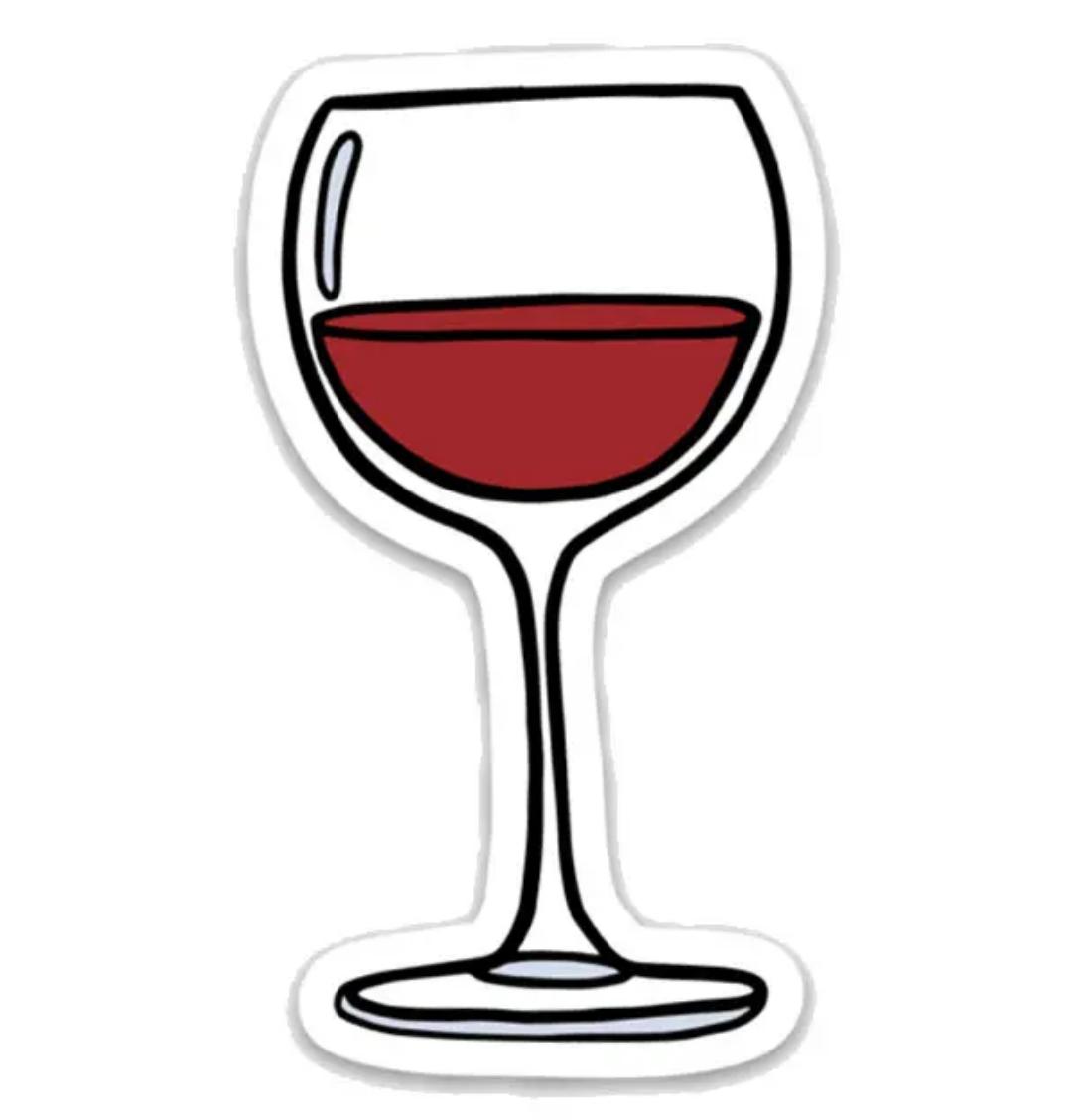 Brittany Paige Wine Glass Sticker