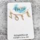Rockaway Gypsea VOTE Necklace-Gold/Crystal Letters