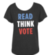 Out of Print Read Think Vote Tee