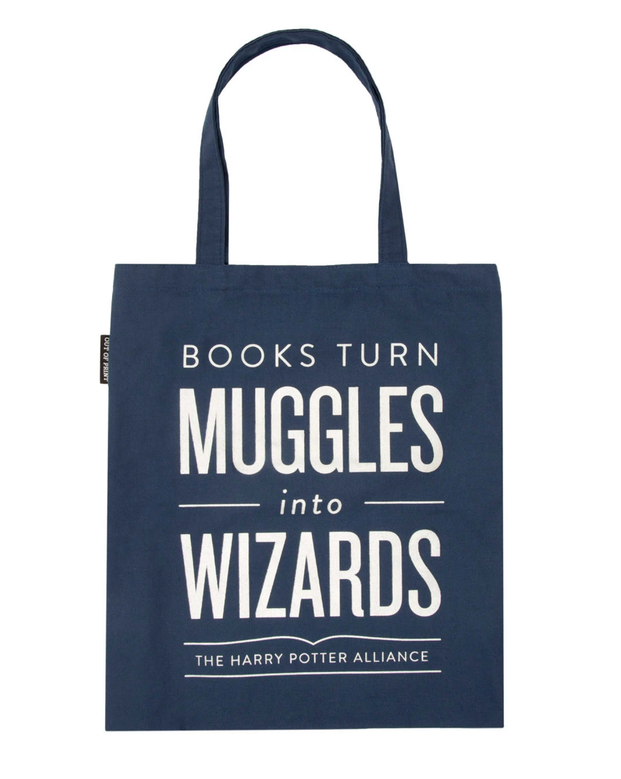 Out of Print Tote- Books Turn Muggles