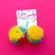 Siyo Boutique Rainbow Sherbet Pom Pom Earrings - FINAL SALE