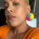 Siyo Boutique Rainbow Sherbet Pom Pom Earrings