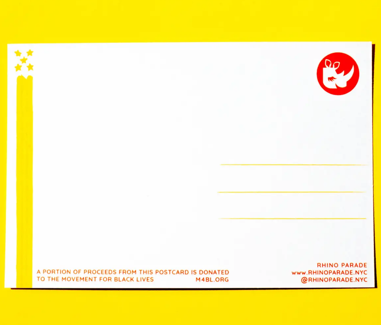 Rhino Parade BLM Protest Postcards-Set of 5