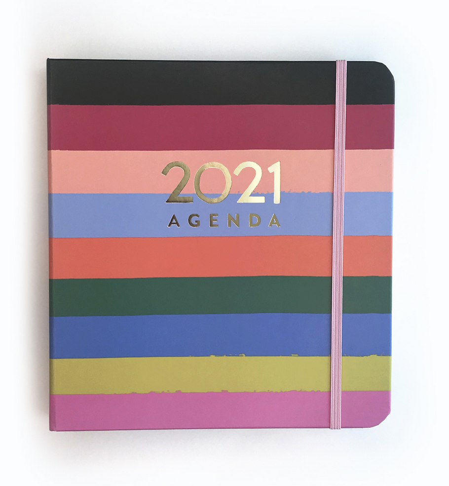 Idlewild Planner - Rainbow Stripe - FINAL SALE
