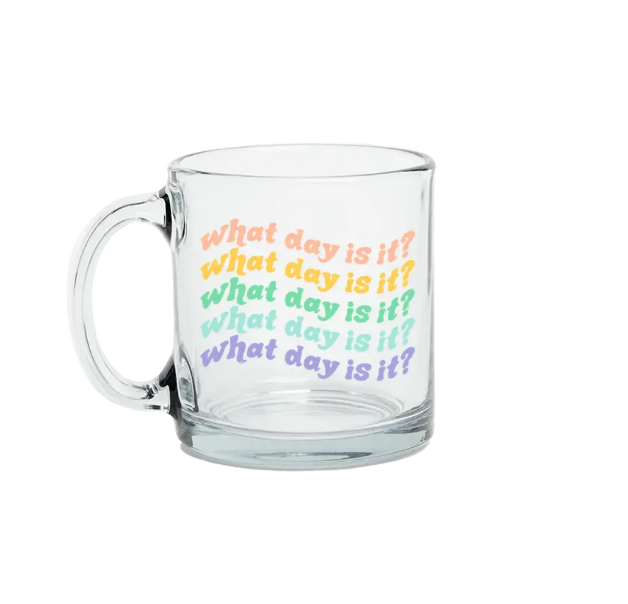 Talking Out of Turn What Day is It? Mug