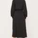 Lush Balloon Sleeve Midi Dress-Black - FINAL SALE
