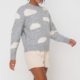 Lush Cloud Crewneck Sweater-Grey