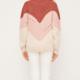 Lush Mockneck Color Block Sweater-Berry