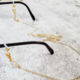 "Rockaway Gypsea 28"" Glasses/Mask Chain - Open Star Gold"