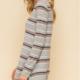 Hem & Thread Striped String Back Sweater Dress-Grey/Multi