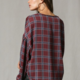 By Together Checkered Dollman Button Down-Wine