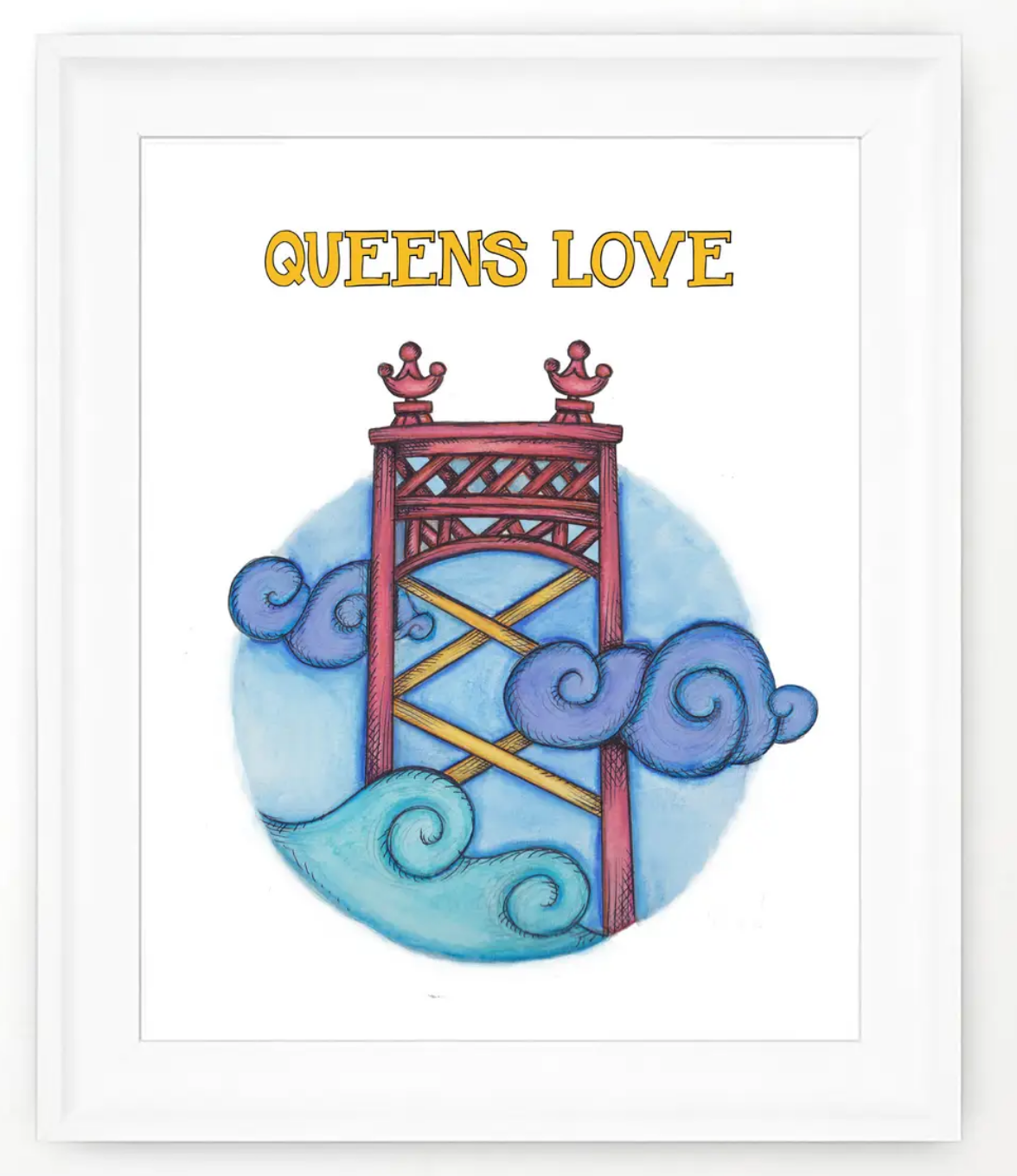 About a Cloud Queens Love Print