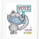 About a Cloud Vote + Wear a Mask Print