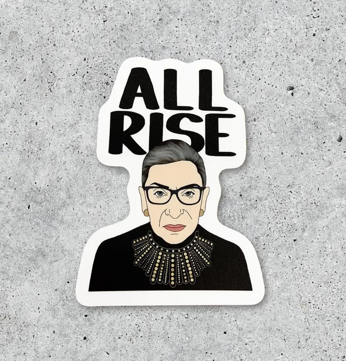 Citizen Ruth RBG All Rise Sticker