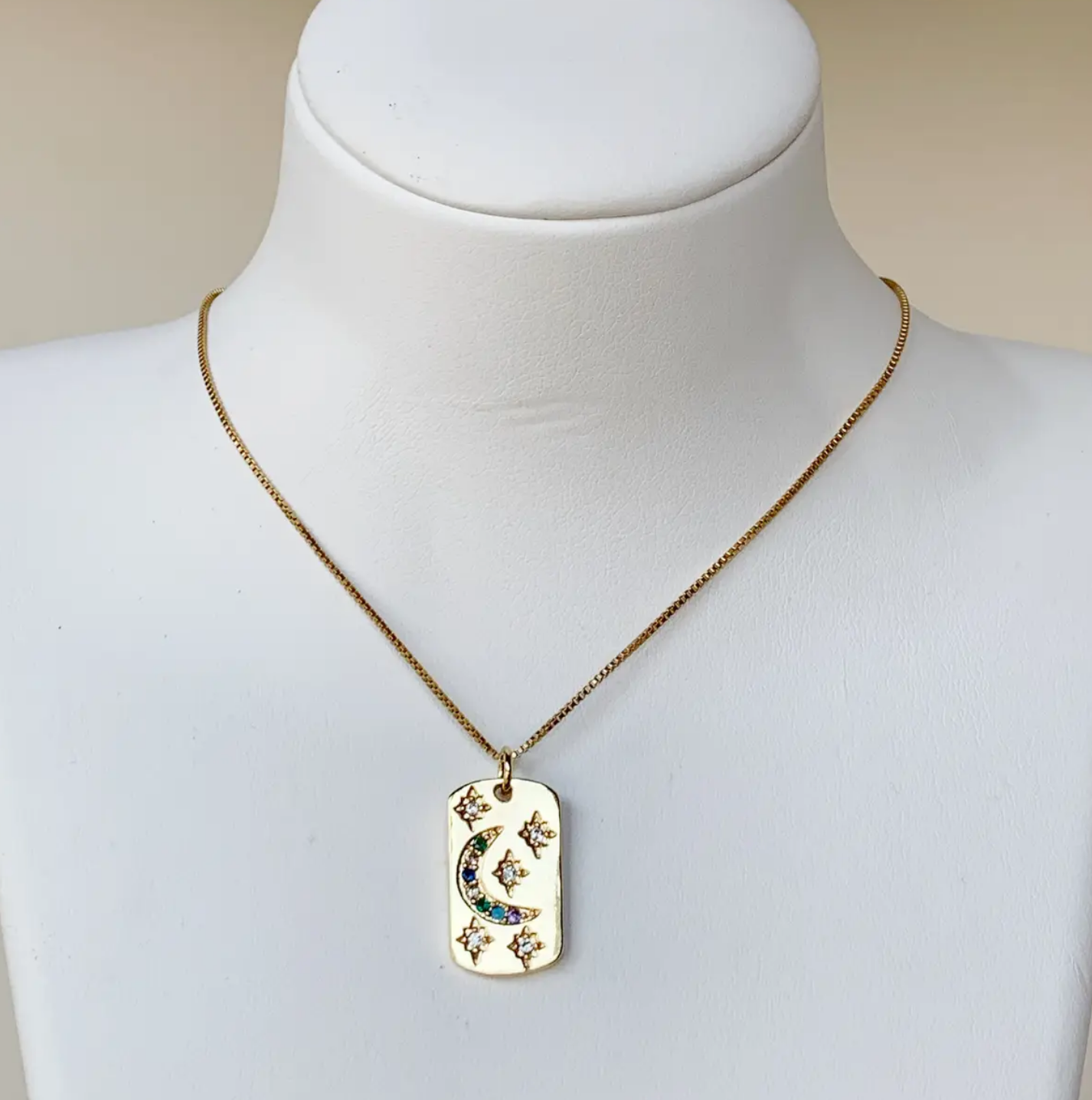 Bou-Cou Moon Tag Necklace