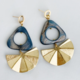 Bou-Cou Triangle Shell with Fan Earrings