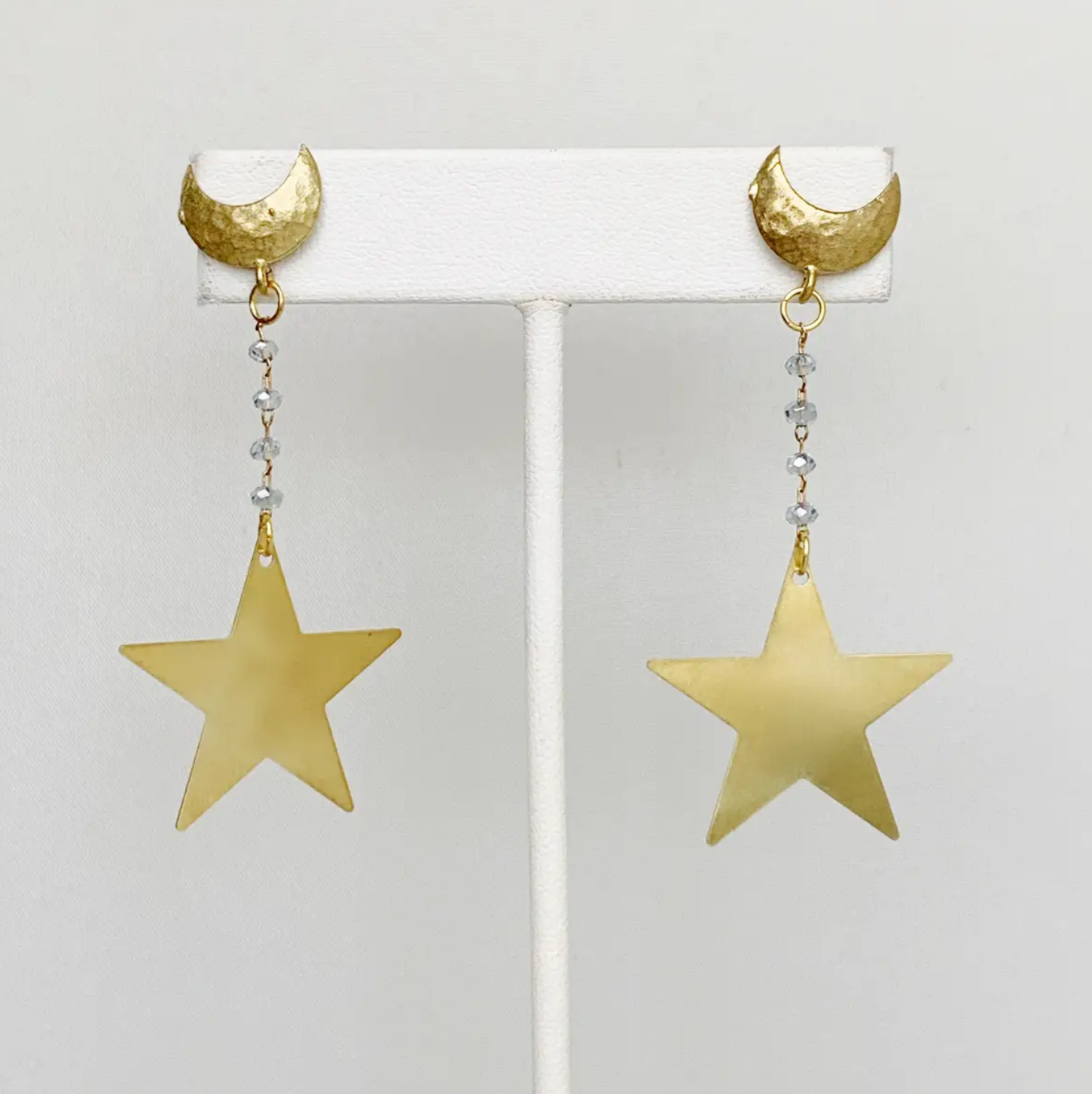 Bou-Cou Crescent and Star Earrings