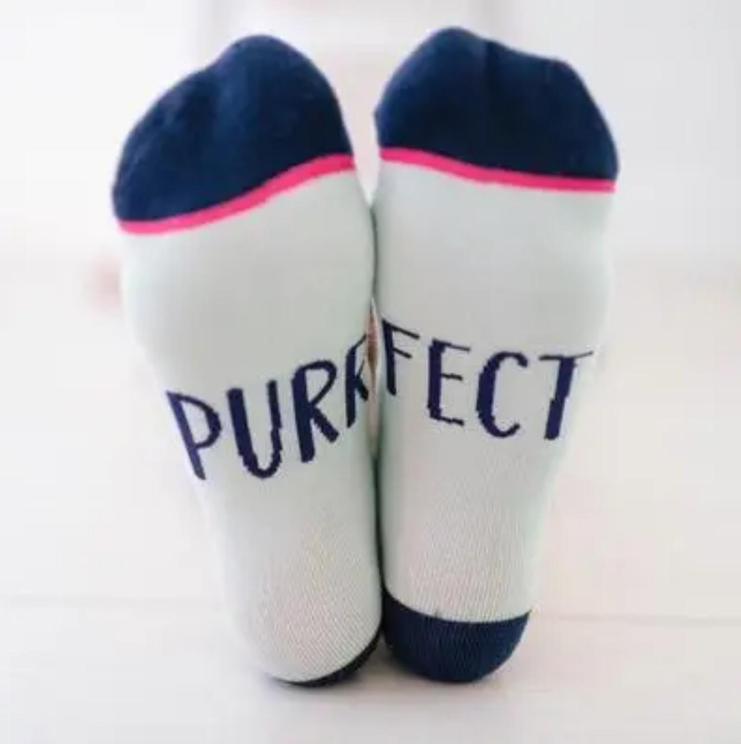 Woven Pear Purrfect Cat Socks