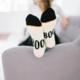 Woven Pear Teal Ghost Socks