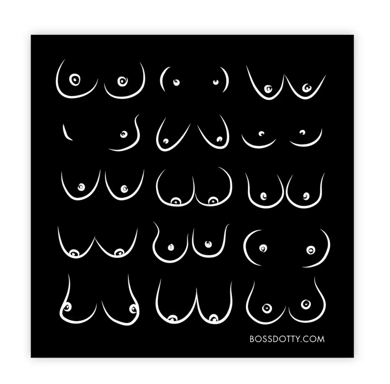 Boss Dotty Boobs Sticker