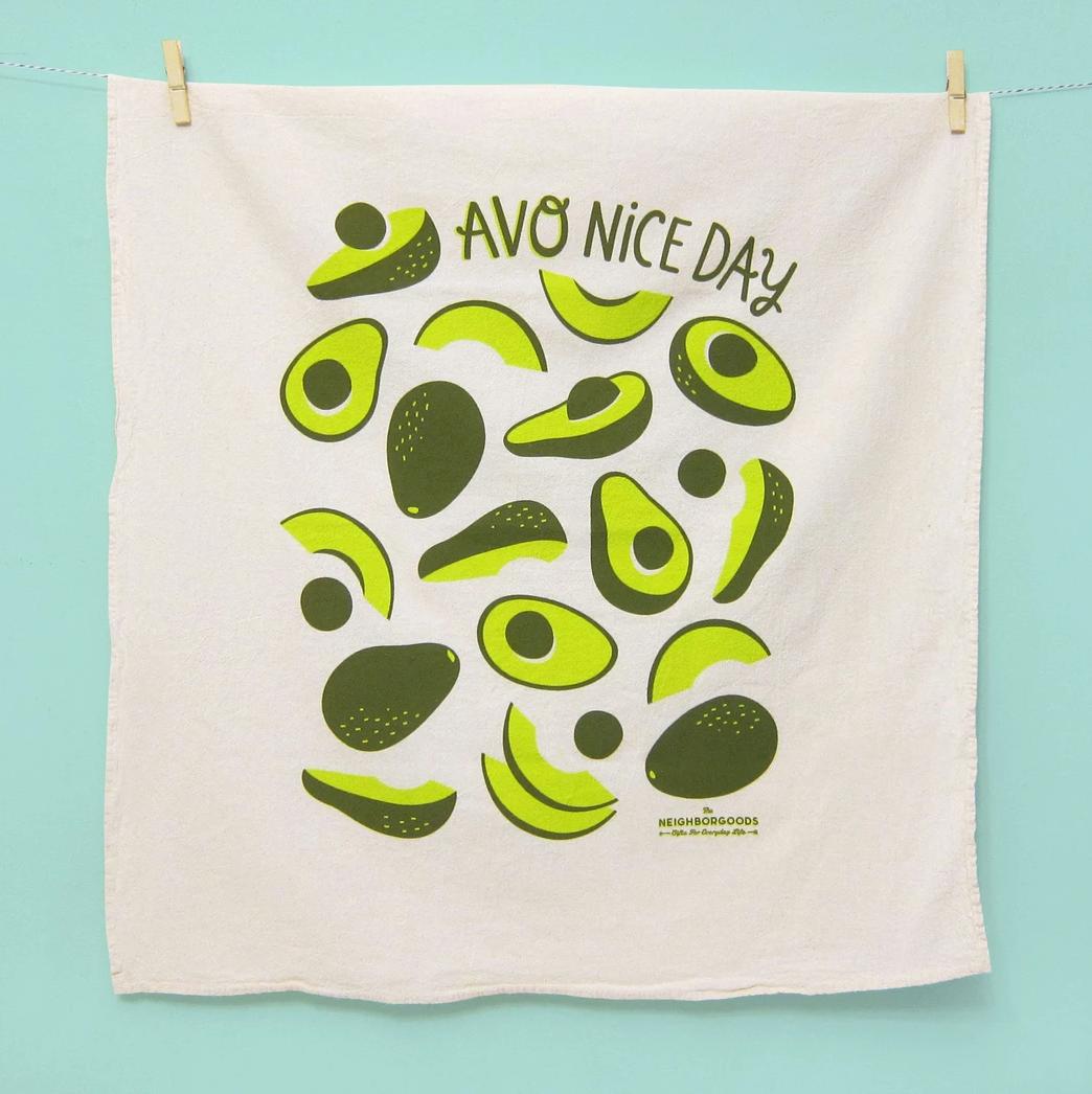 The Neighborgoods Tea Towel-Avo Nice Day