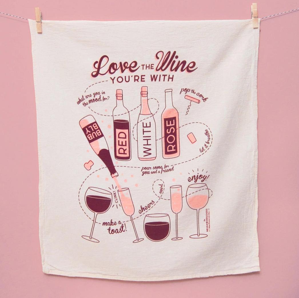 The Neighborgoods Tea Towel-Wine