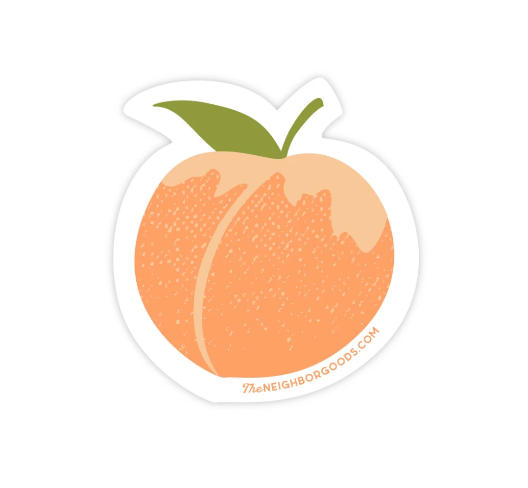 The Neighborgoods Sticker-Peach