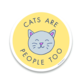 Little Goat Cats Are People Too Sticker