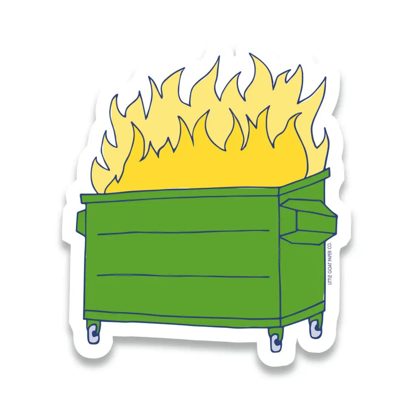 Little Goat Dumpster Fire Sticker