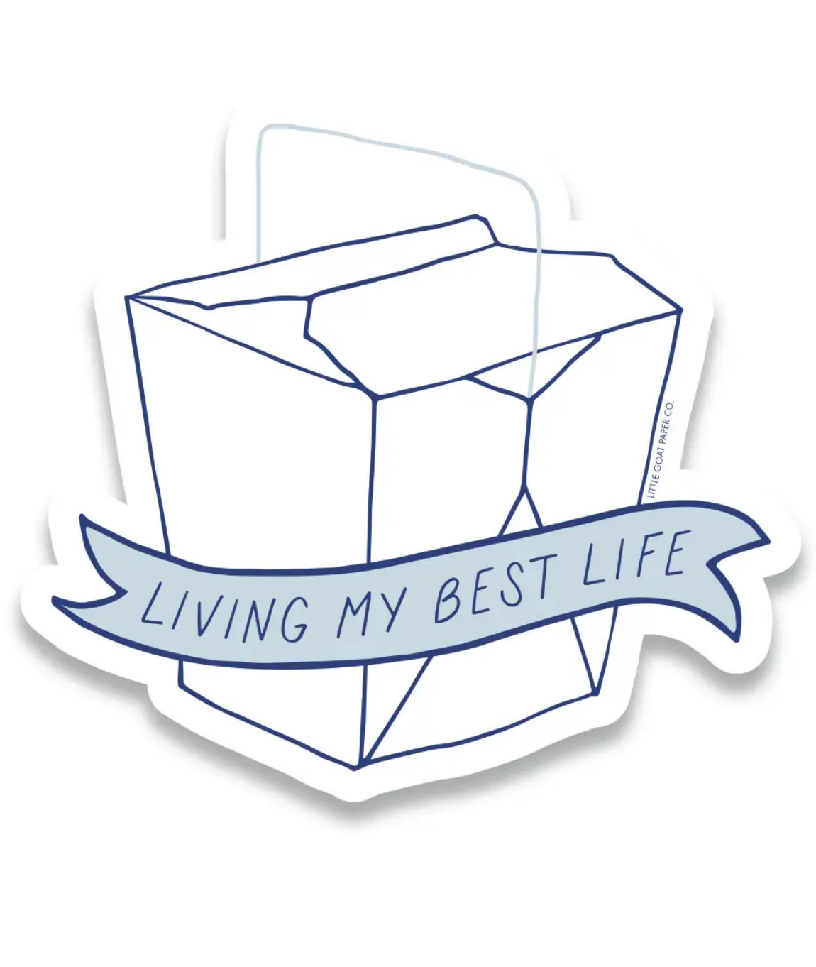 Little Goat Living My Best Life Sticker
