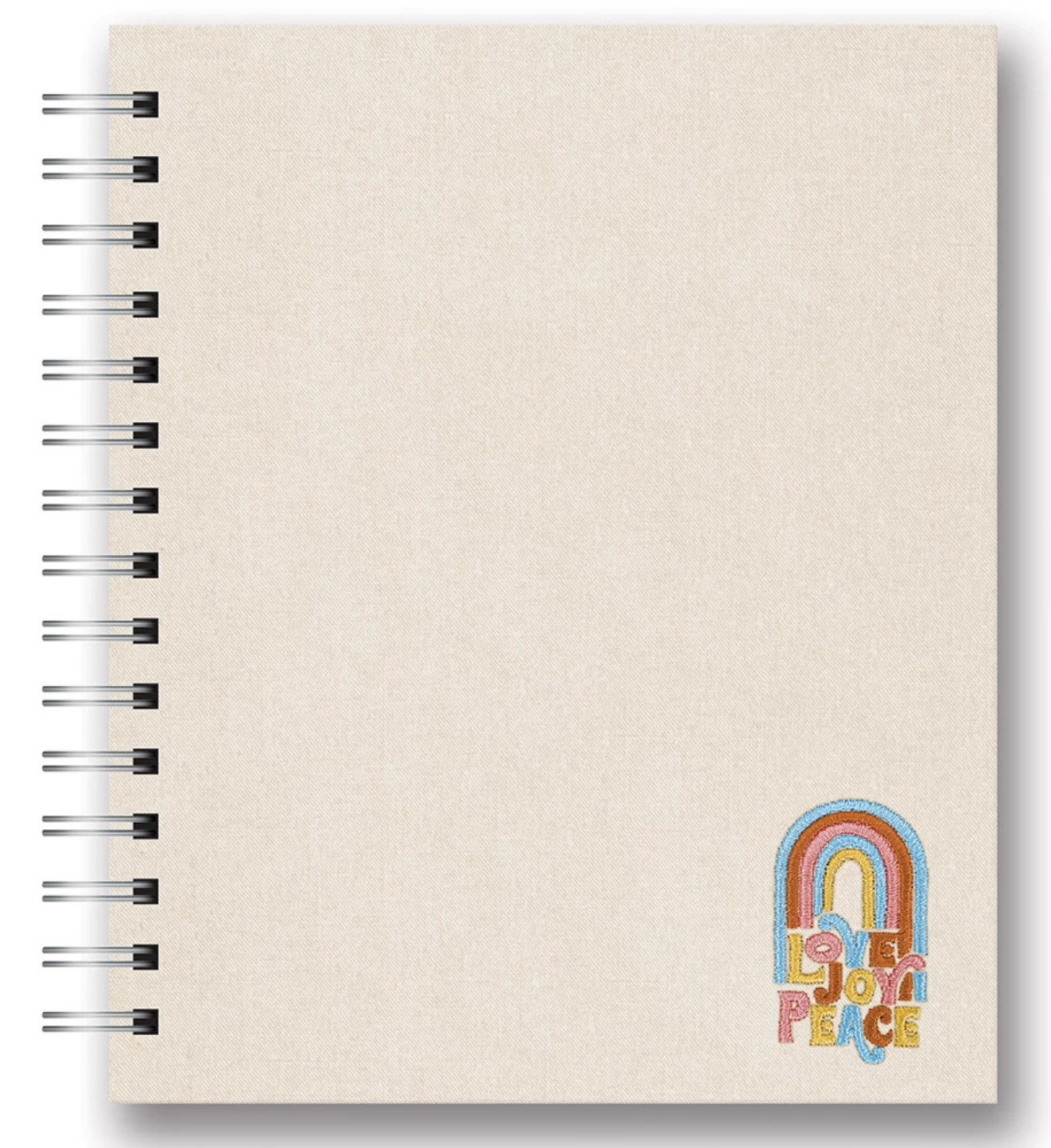 Studio Oh Embroidered Spiral Notebooks - Love Joy Peace