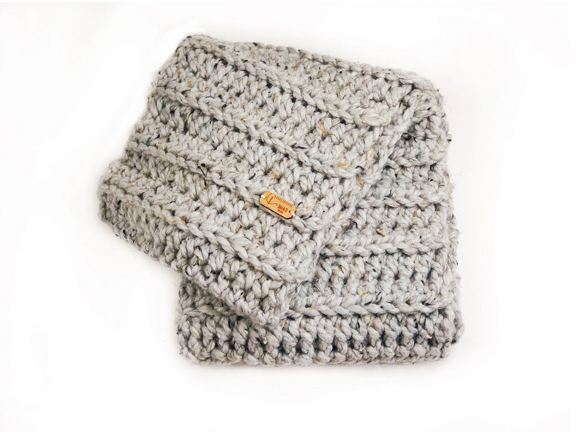 Stitch'D Factory It Takes a West Village Scarf-Grey Marble