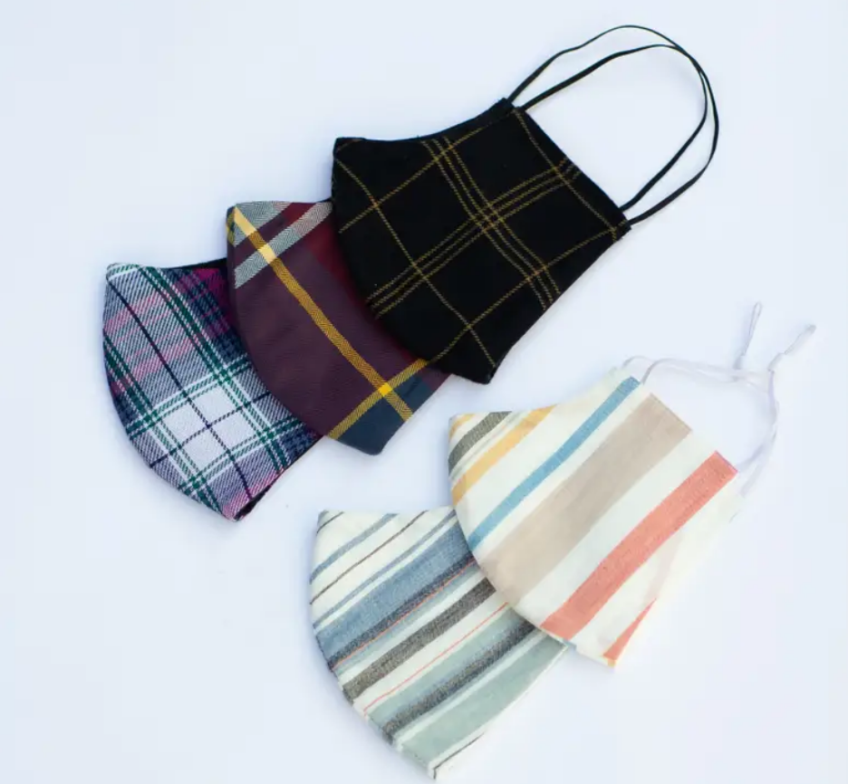 Lost + Wander Adult Face Mask - FALL  PLAID AND STRIPES