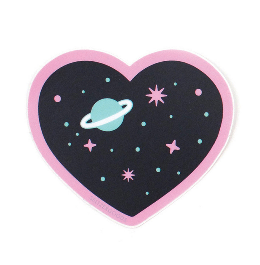 Seltzer Heart Space Sticker