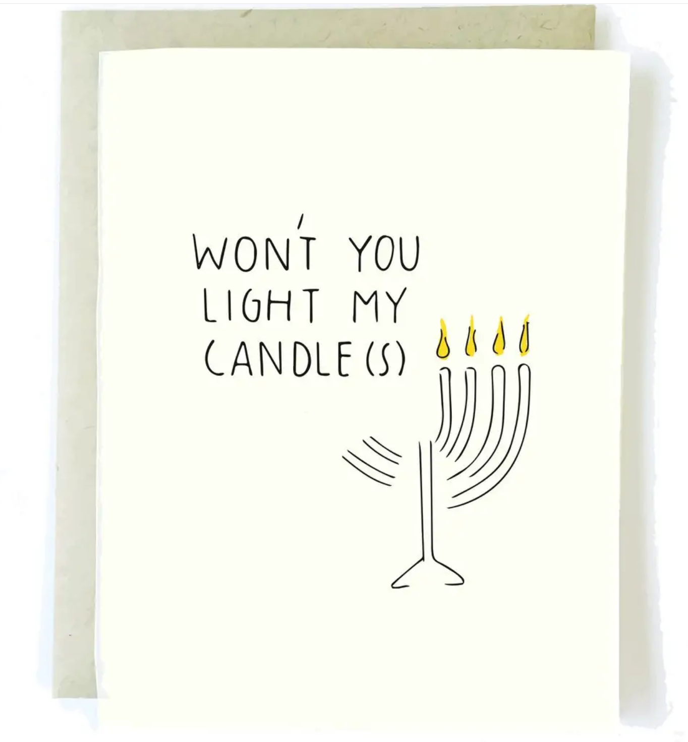 Pop + Paper Menorah Hanukkah Card