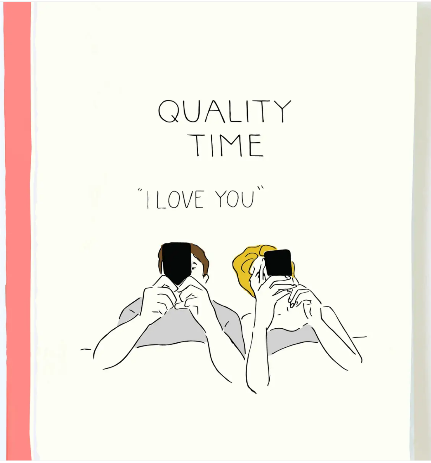 Pop + Paper Quality Time Card
