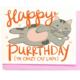 Little Low Studio Happy Purrthday Card
