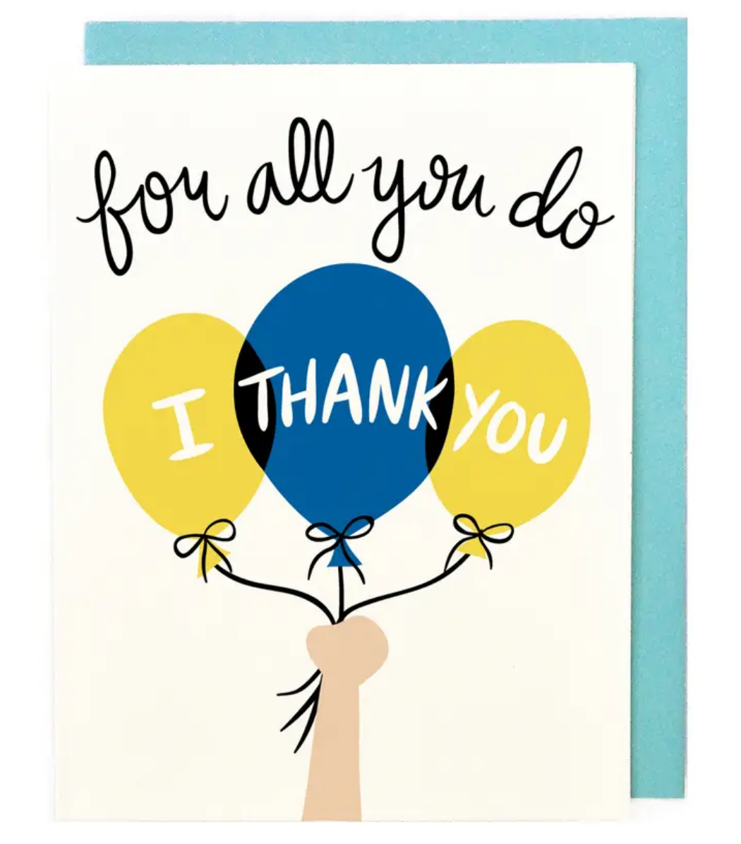 Little Low Studio I Thank You Balloons Card