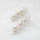 Metrix Jewelry Sterling silver chain earrings