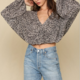 By Together L/S Crinkled Leopard Top