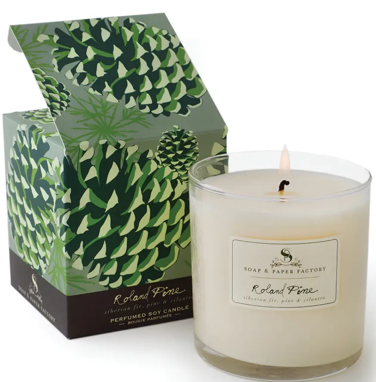 Soap & Paper Factory 9.5 oz Roland Pine Single-Wick Soy Candle