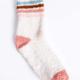 PJ Salvage Fuzzy Socks-Stone Stripe