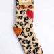 PJ Salvage Fuzzy Socks-Leopard Heart