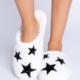 PJ Salvage Cozy Slippers-Ivory Stars