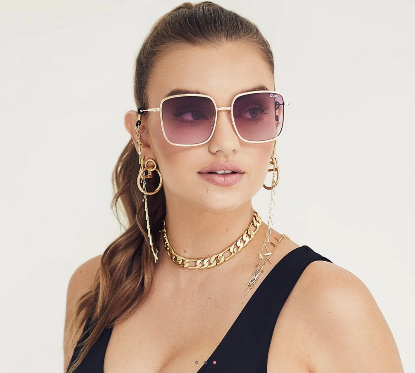 Quay Quay Real One-GLD/PURPPINK - FINAL SALE