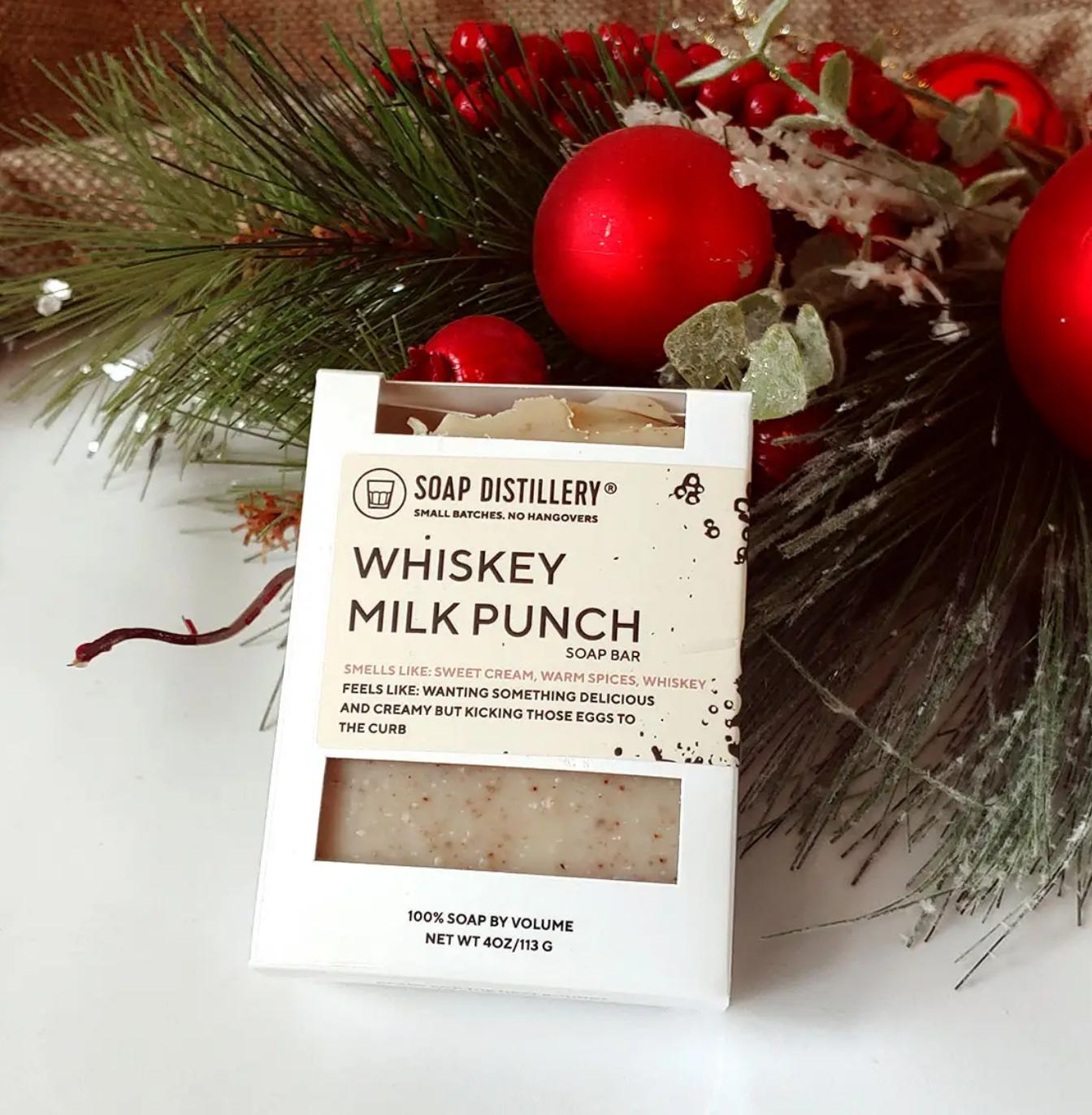 Soap Distillery Whiskey Milk Punch Soap Bar