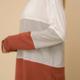 Hem & Thread COLOR BLOCK LONG SLEEVE KNIT TOP-CREAM